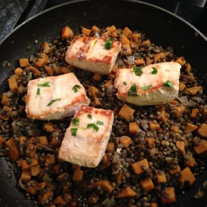 lentils and fish